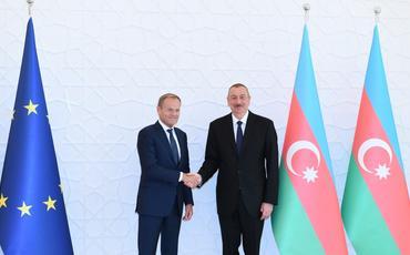 Azərbaycan Prezidenti İlham Əliyevin və Avropa İttifaqı Şurasının Prezidenti Donald Tuskun görüşü olub
