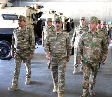 Ali Baş Komandanın tapşırığına əsasən hərbi hissələr yoxlanılır