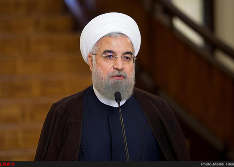 Həsən Ruhani: İran qonşu ölkələrin potensialından istifadə etməlidir