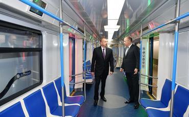 """Prezident İlham Əliyev Bakı Metropoliteninin """"Xətai"""" stansiyasında görülən işlərlə tanış olub"""