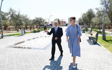 Birinci vitse-prezident Mehriban Əliyeva Kürdəxanıda yeni yaradılan istirahət parkı ilə tanış olub