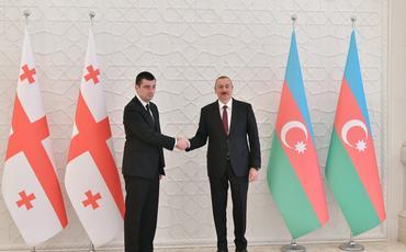 Azərbaycan Prezidenti İlham Əliyev Gürcüstanın Baş Naziri Giorgi Qaxariyanı qəbul edib