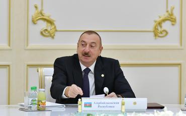 Prezident İlham Əliyev Aşqabadda MDB Dövlət Başçıları Şurasının məhdud tərkibdə iclasında iştirak edib