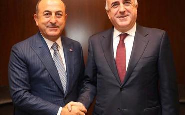 Elmar Məmmədyarov Mövlud Çavuşoğlu ilə görüşüb