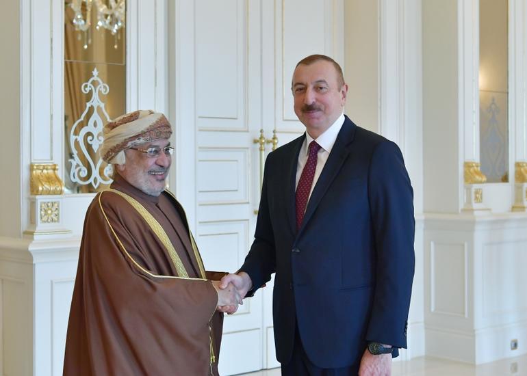Prezident İlham Əliyev Omanın Dövlət Şurası sədrinin başçılıq etdiyi nümayəndə heyətini qəbul edib