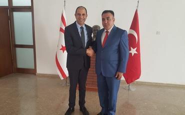 Emin Həsənli Şimali Kipr prezidenti və nazirlə görüşüb
