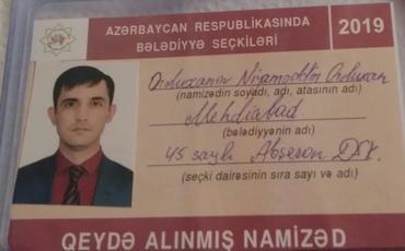 Niyaməddin Orduxanlının namizədliyi qeydə alındı