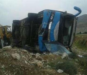 İranda ağır avtobus qəzası - Ölən və yaralananlar var