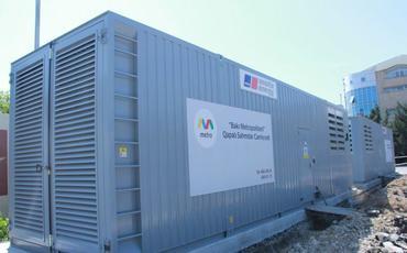 Metropolitenin alternativ enerji üçün dizel generatorları xəttə qoşulub
