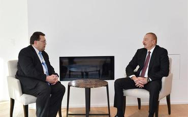 Prezident İlham Əliyevin Davosda İsveçrənin Montrö şəhərinin meri ilə görüşü olub