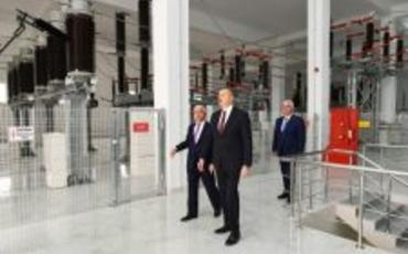 """Prezident İlham Əliyev """"Azərenerji"""" ASC-nin """"Dübəndi"""" yarımstansiyanın açılışında iştirak edib"""