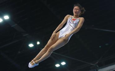 Milli Gimnastika Arenasında batut gimnastikası və tamblinq üzrə Dünya Kubokunun iştirakçılarının podium məşqləri keçirilir