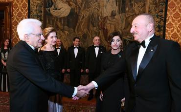Romada Azərbaycan Prezidentinin şərəfinə dövlət ziyafəti verilib