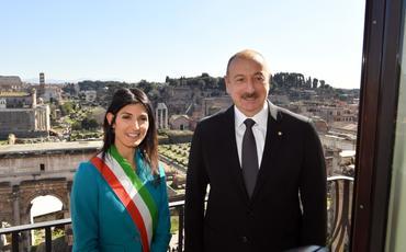 Prezident İlham Əliyev Roma şəhərinin meri ilə görüşüb