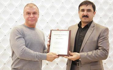 Krasnoyarskda Türk Dünyasının qəhrəmanı İbad Hüseynli ilə görüş olub