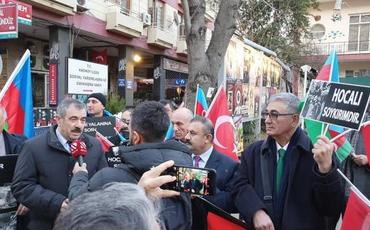 İstanbulda Xocalı soyqırımı ilə bağlı yürüş keçirilib