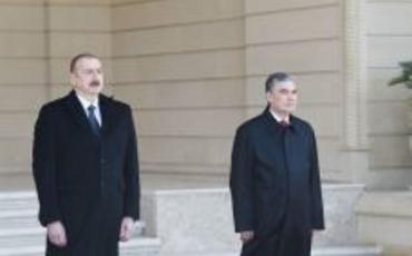 Türkmənistan Prezidenti Qurbanqulu Berdiməhəmmədovun rəsmi qarşılanma mərasimi olub