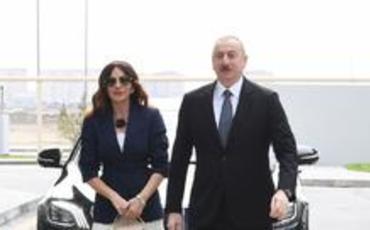 Prezident İlham Əliyev Hövsan yaşayış kompleksinin açılışında iştirak edib