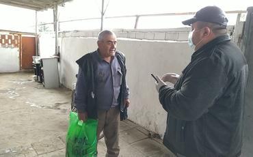 Sadiq Qurbanov seçicilərinə yardım göndərib - Telefonla canlı bağlantı qurub