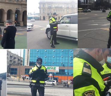 Bakıda xüsusi karantin rejiminin ilk günü: 500-dən artıq sürücü saxlanıldı