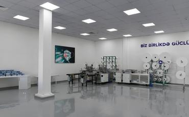 Prezident Sumqayıtda tibbi maska fabriki və qoruyucu kombinezon istehsalı müəssisəsinin açılışında iştirak edib