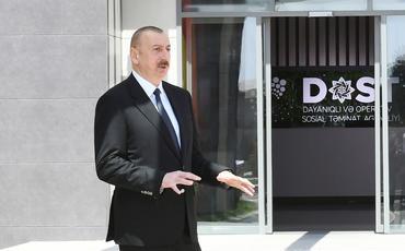 Prezident İlham Əliyev və birinci xanım Mehriban Əliyeva 3 saylı DOST mərkəzinin açılışında iştirak ediblər