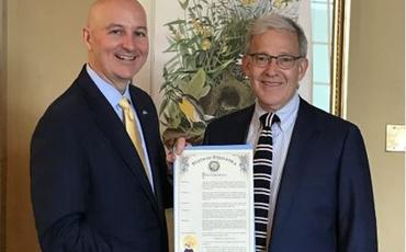 ABŞ-ın Nebraska ştatının qubernatoru 28 Mayı Azərbaycan Günü elan edib