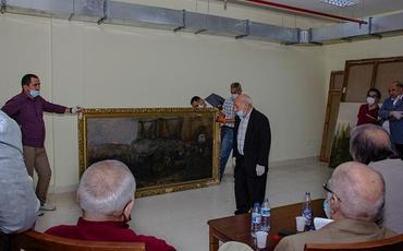 Azərbaycan Milli İncəsənət Muzeyində saxlanılan sənət əsərlərinə baxış keçirilib