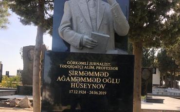 Jurnalistlər Şirməmməd Hüseynovun məzarını ziyarət etdilər