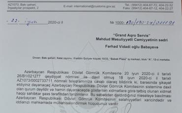 Dövlət komitəsi ittihamlara cavab verdi: Həqiqətə uyğun olmayan, haqsız...