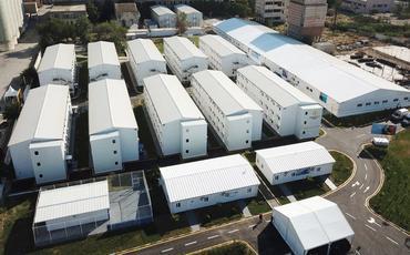 Prezident İlham Əliyev və Mehriban Əliyeva Bakıda modul tipli hospitalın açılışında iştirak ediblər