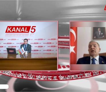 Türkiyənin keçmiş səfiri Hulusi Kılıç KANAL 5-in qonağı olub