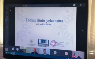 1700 müəllimin iştirakı ilə onlayn forum keçirilib