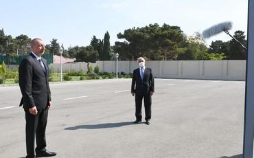 Prezident İlham Əliyev Bakıda yarımstansiyasının açılışında iştirak edib