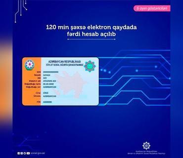 İyulun 1-dək 120 min şəxsə elektron qaydada fərdi hesab açılıb