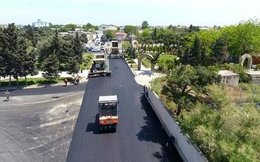 Suraxanıda təmirə ehtiyacı olan 18 km yol yenidən qurulur