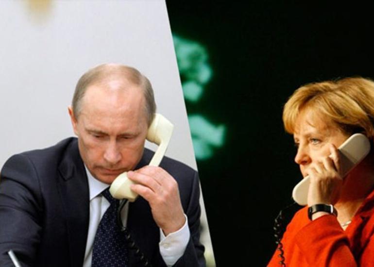 Merkel və Putin Belarusdakı vəziyyəti müzakirə edib