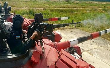 """Tankçılarımız """"Tank biatlonu"""" müsabiqəsinə hazırlıqlarını davam etdirir"""