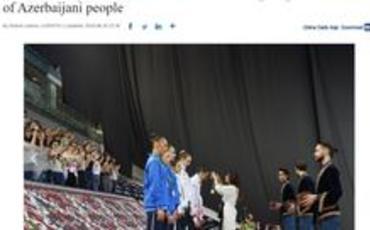 """""""China Daily"""": Mehriban Əliyevanın yorulmaz fəaliyyəti Azərbaycan xalqının dərin hörmət və məhəbbətini qazanıb"""