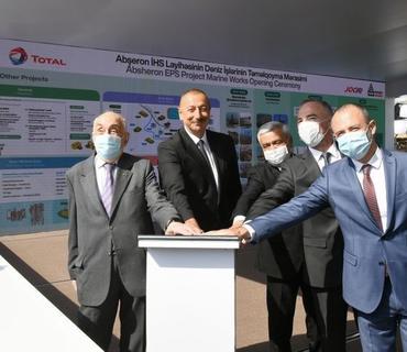 """Prezident İlham Əliyev: """"Abşeron"""" qaz-kondensat yatağının yeni mərhələsi başlayır"""""""