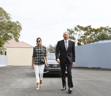 Prezident İlham Əliyev və Mehriban Əliyeva Balaxanıda aparılan abadlıq işləri ilə tanış olublar
