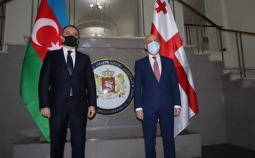 Azərbaycan və Gürcüstan XİN başçılarının geniş tərkibdə görüşü keçirilib