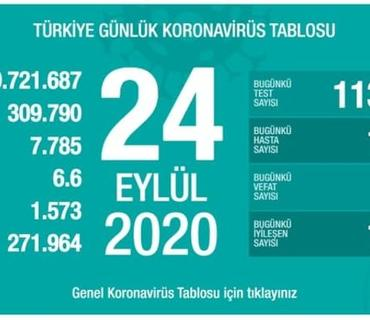Türkiyədə son sutkada koronavirusdan ölənlərin sayı 74-ə çatıb