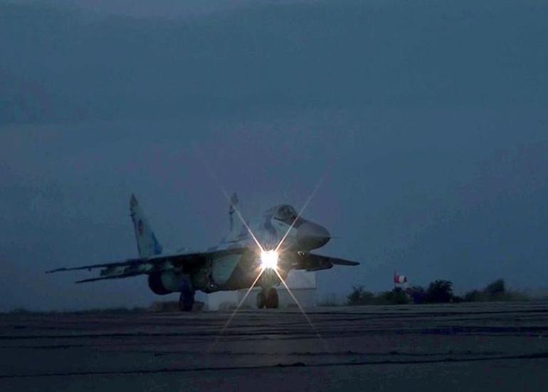 Hərbi Hava Qüvvələri gecə təlimləri keçirib