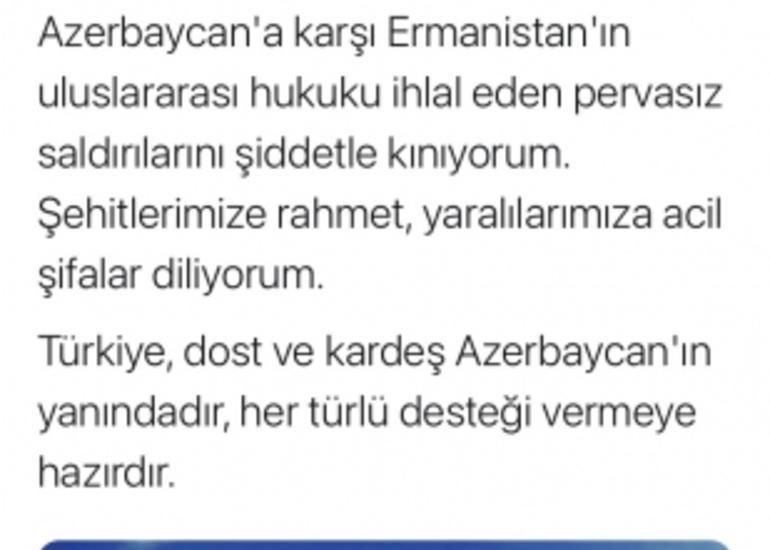 Əbdülhəmid Gül: Türkiyə dost və qardaş Azərbaycanın yanındadır