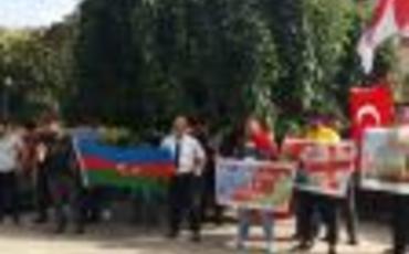 Gürcüstanda Azərbaycana dəstək aksiyası keçirilir