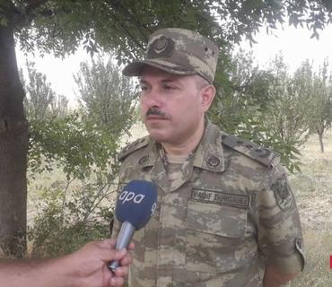 """Vaqif Dərgahlı: """"Düşmən Goranboy rayonunu atəşə tutub"""""""