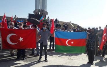 Türkiyənin İğdır şəhərində Azərbaycana dəstək aksiyası təşkil edilib