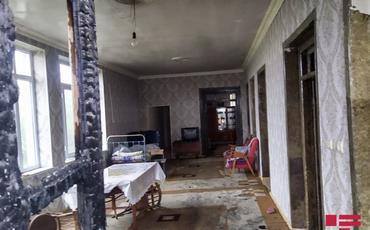 Naftalanda mərmi düşən daha iki ev dağılıb