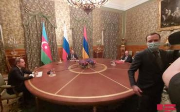 Moskvada Rusiya, Azərbaycan və Ermənistan XİN başçılarının üçtərəfli görüşü başlayıb